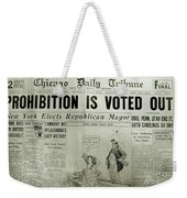 Prohibition Voted Out Weekender Tote Bag