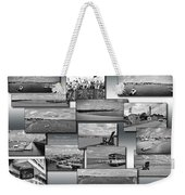 Provincetown Cape Cod Massachusetts Collage Bw 02 Weekender Tote Bag