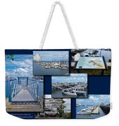 Provincetown Marina Cape Cod Massachusetts Collage Weekender Tote Bag