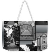 Provincetown Town Hall Cape Cod Massachusetts Collage Bw Vertical Weekender Tote Bag