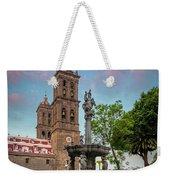 Puebla Zocalo And Cathedral Weekender Tote Bag