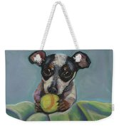 Puppy With Tennis Ball Weekender Tote Bag