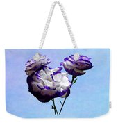 Purple And White Lisianthus Weekender Tote Bag