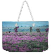 Purple Grain Weekender Tote Bag