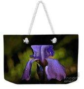 Purple Iris And Dewdrops II Weekender Tote Bag