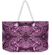 Purple Lilac Gardens And Reflecting Pools Fractal Abstract Weekender Tote Bag by Rose Santuci-Sofranko