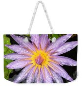 Purple Lotus Water Lily Weekender Tote Bag