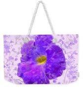 Purple Morning Glory With Pattern Weekender Tote Bag