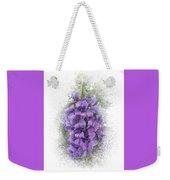 Purple Texas Mountain Laurel Flower Cluster Weekender Tote Bag by Patti Deters