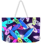 Purple Waters Weekender Tote Bag