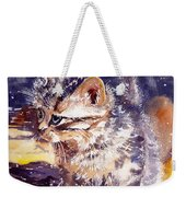 Pussy On A Yellow Blanket Weekender Tote Bag