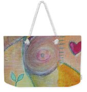 Puzzling Over Plastics Weekender Tote Bag by Kim Nelson