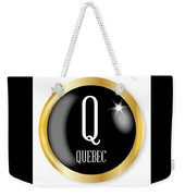 Q For Quebec Weekender Tote Bag
