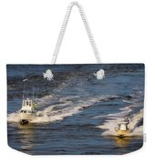Racing To The Harbor Weekender Tote Bag