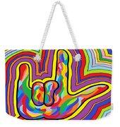 Radiating I Love You Weekender Tote Bag