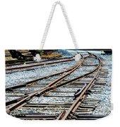 Railroad Siding Tracks Weekender Tote Bag