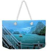 Rain Aboard Au Co Cruise Ha Long Bay  Weekender Tote Bag