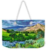 Rain Clouds On The Way To Sweetwater Weekender Tote Bag