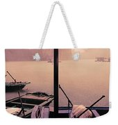 Rain Storm Ha Long Bay Boat People Homes Weekender Tote Bag