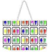 Rainbow Gender Men Women Study Weekender Tote Bag