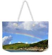 Rainbow Over Buck Island Lighthouse Weekender Tote Bag