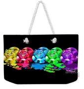 Rainbow Painted Cats Weekender Tote Bag