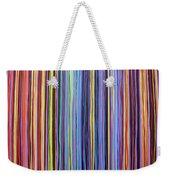 Rainbow Stripes Purple Gold 201912 Weekender Tote Bag