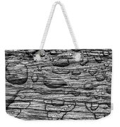 Raindrops On Wood, California, Usa Weekender Tote Bag