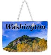 Randle Washington In Fall Weekender Tote Bag