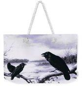 Ravens In Winter Weekender Tote Bag