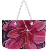 Red Amaryllis  Weekender Tote Bag