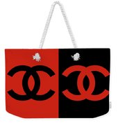 Red And Black Chanel Weekender Tote Bag