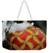 Red And Gold Ornament Weekender Tote Bag