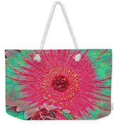 Red And Green Bloom Weekender Tote Bag