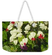 Red And White Surprise 2 Weekender Tote Bag
