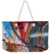 Red Blue Graffiti Abstract Square 2 Weekender Tote Bag