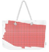 Red Dot Map Of Arizona Weekender Tote Bag