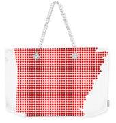 Red Dot Map Of Arkansas Weekender Tote Bag
