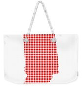 Red Dot Map Of Indiana Weekender Tote Bag