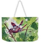 Red Dragonfly Weekender Tote Bag by Sam Sidders