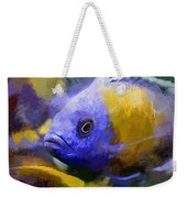 Red Fin Borleyi Cichlid Artwork Weekender Tote Bag by Don Northup