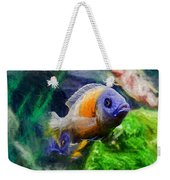 Red Fin Borleyi Cichlid Weekender Tote Bag by Don Northup