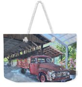 Red Ford And Pink Flowers Weekender Tote Bag