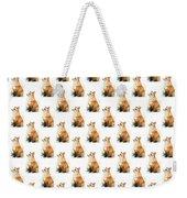 Red Fox Watercolor Pattern Weekender Tote Bag