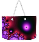 Red Glowing Bliss Abstract Weekender Tote Bag by Don Northup