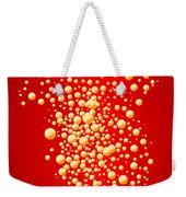 Red Party Bubble Background Weekender Tote Bag