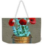 Red Patio Poppies Weekender Tote Bag