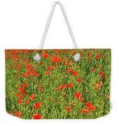 Red Poppies Meadow Weekender Tote Bag