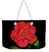 Red Rose With Dewdrops 038 Weekender Tote Bag