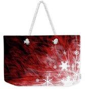 Red Snowflake Weekender Tote Bag